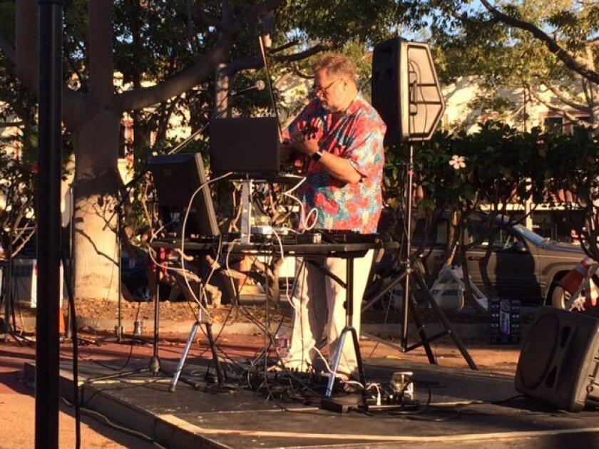 Todd Reynolds at the Carlsbad Music Festival Saturday.