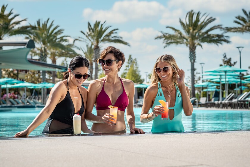 A swim-up bar has opened at The Cove, the pool complex at Pechanga Resort Casino.
