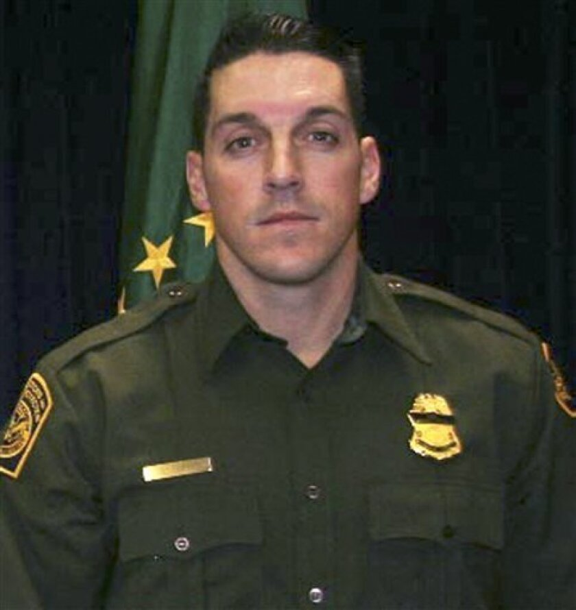 FILE - This undated file photo provided by U.S. Customs and Border Protection shows U.S. Border Patrol agent Brian A. Terry. The Arizona Daily Star reports that prosecutors have agreed in principle to unseal some of the case against people accused of killing Terry on Dec. 14, 2010 near the Arizona-Mexico border. (AP Photo/U.S. Customs and Border Protection, File)