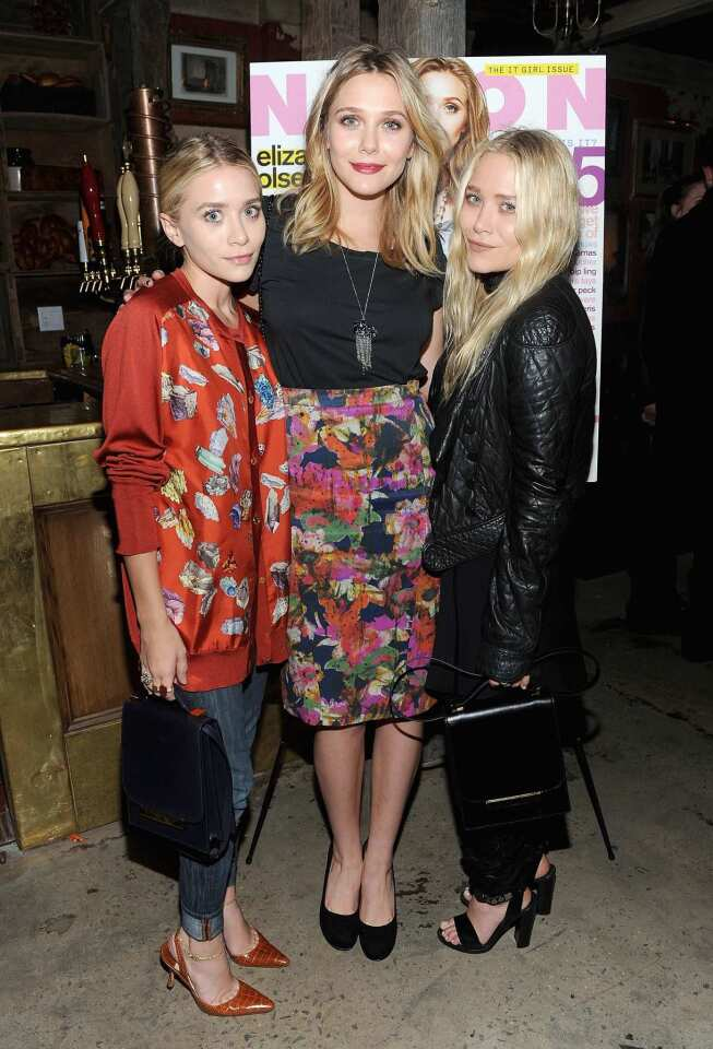 """The Olsen twins grew up in the spotlight, but Ashley, left, and Mary-Kate, right, aren't the only talent in the family. Now, little sister Elizabeth is launching her own film career with the new indie flick """"Martha Marcy May Marlene,"""" about a young girl who escapes from a cult. The fest favorite is already generating major buzz for the budding star. The twins, of course, have been on screen since they were in diapers on the set of """"Full House"""" and went on to star in numerous films and TV movies. They even have their own Dualstar production company and a lucrative fashion line. The Olsens, who have an older brother, Trent, aren't the first siblings to share the spotlight. Here's a closer look at some of Hollywood's most famous brothers and sisters. RELATED: -- No sibling rivalry for Elizabeth Olsen"""