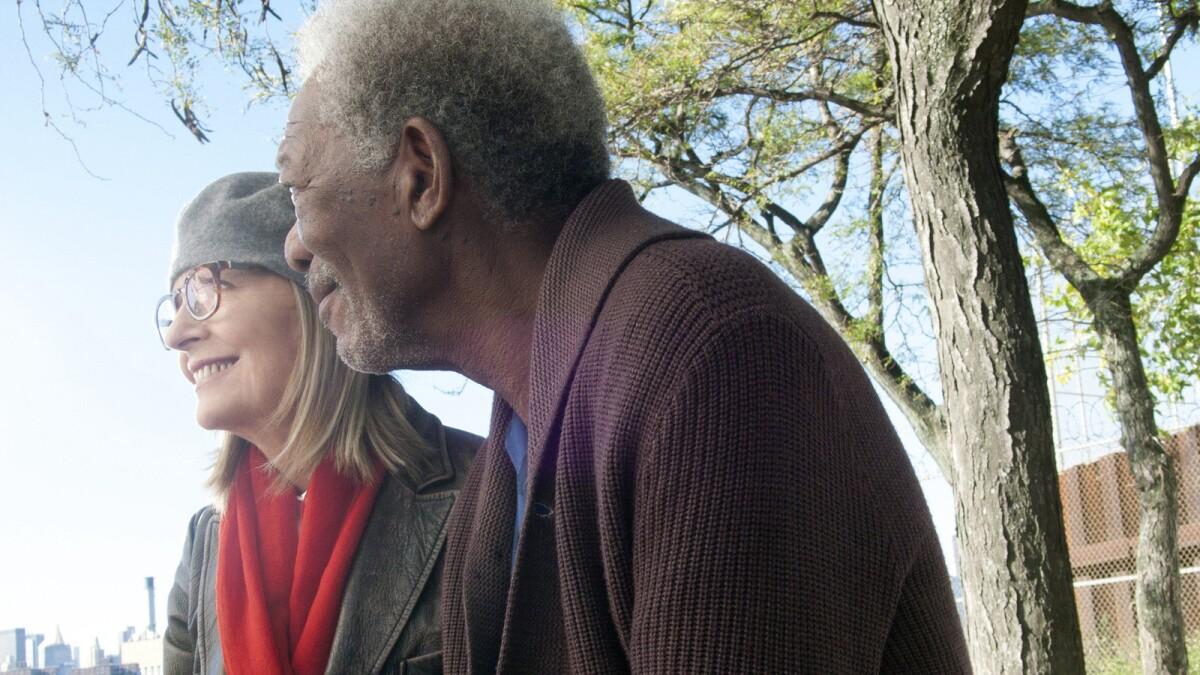 Review Diane Keaton Morgan Freeman Take Flight In Adult Dramedy Los Angeles Times