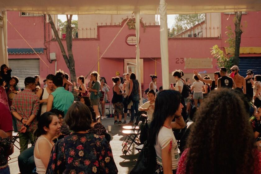 June 9, 2019 - Mexico City, Mexico: The crowd at Cañita Fest. (Mallika Vora)