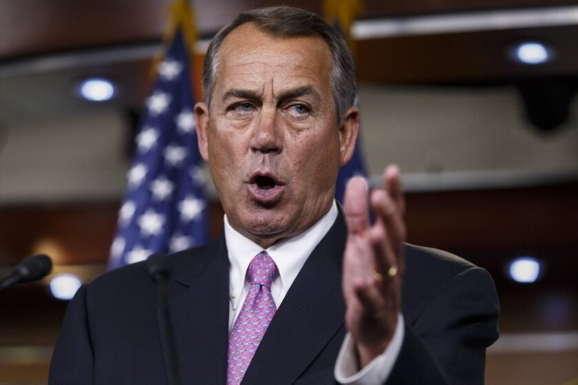 """House Speaker John Boehner: Quick to accuse the White House of """"lawlessness,"""" slow to propose a remedy."""