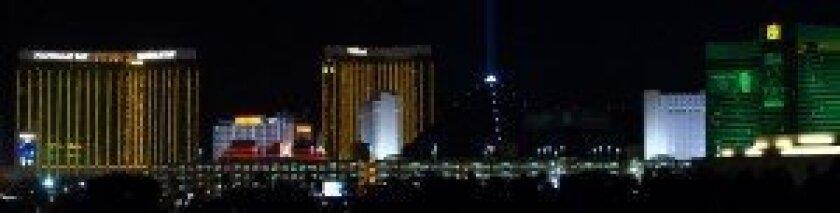 Las Vegas panorama from Hard Rock parking structure.