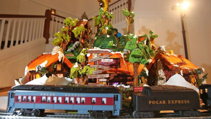 The Fairytale Valley Gingerbread village, created by executive pastry chef Lee Smith is at the Loft