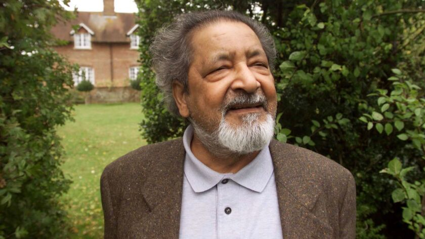 V.S. Naipaul, pictured at his home in England in 2001, won the Nobel Prize in Literature that year.