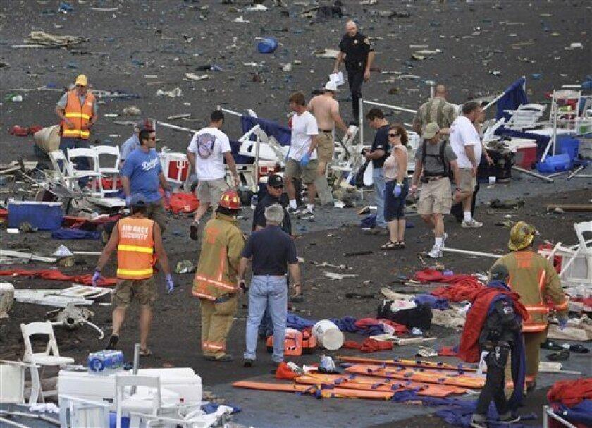 Kansas woman among 11 dead in Reno air race crash - The San