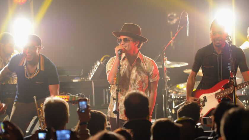 Bruno Mars performs at the IHeartRadio Theater in 2012 in New York City. IHeart, the biggest U.S. radio-station owner, has filed for bankruptcy.