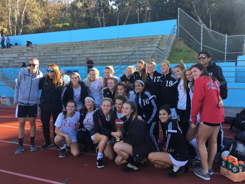 CCA varsity girls soccer team