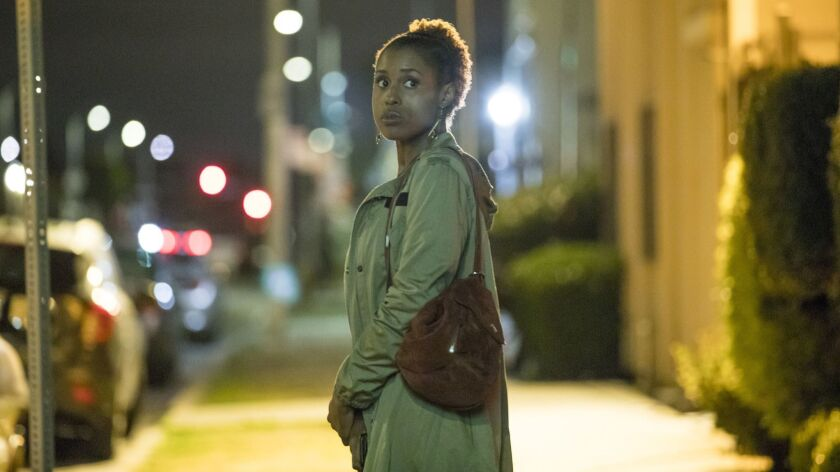 "Issa Rae in a scene from HBO's comedy series, ""Insecure."""