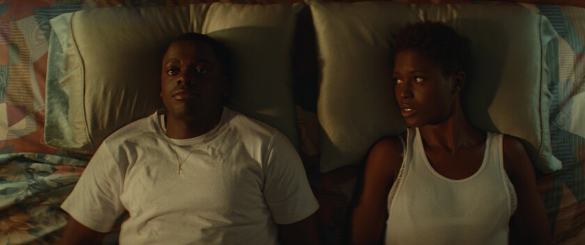"Daniel Kaluuya and Jodie Turner-Smith in  ""Queen & Slim."""