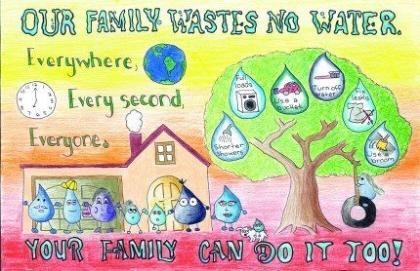 Athena Tsai's winning entry in the city's annual Water Conservation Poster Contest. Courtesy
