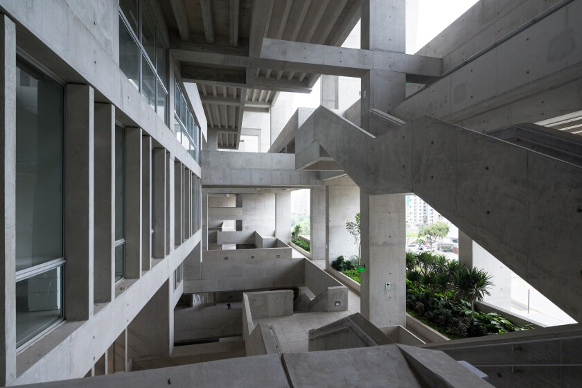 A view of the UTEC campus designed by Grafton Architects in Lima.
