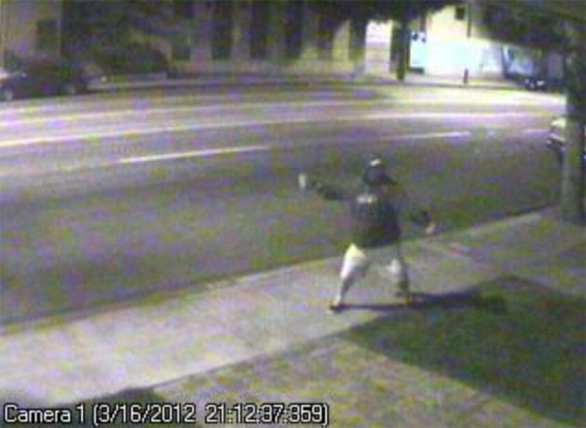 Burbank police ask for help in identifying man who vandalized councilman's business