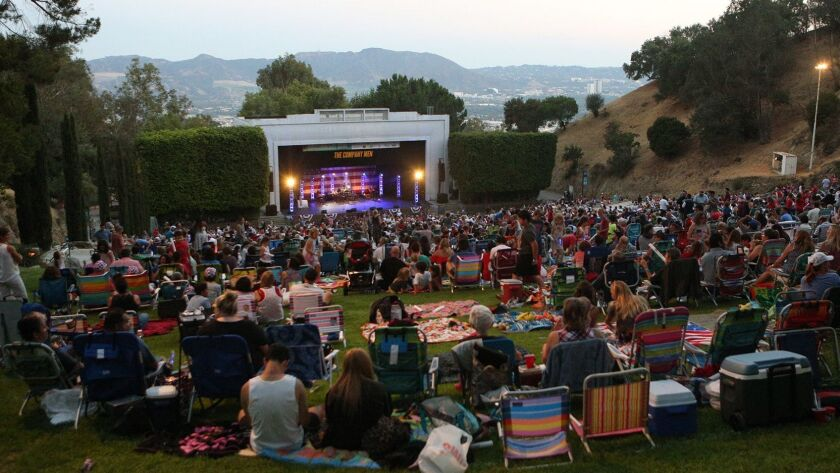 The seating was at capacity for the show and later fireworks at the Starlight Bowl fireworks show in