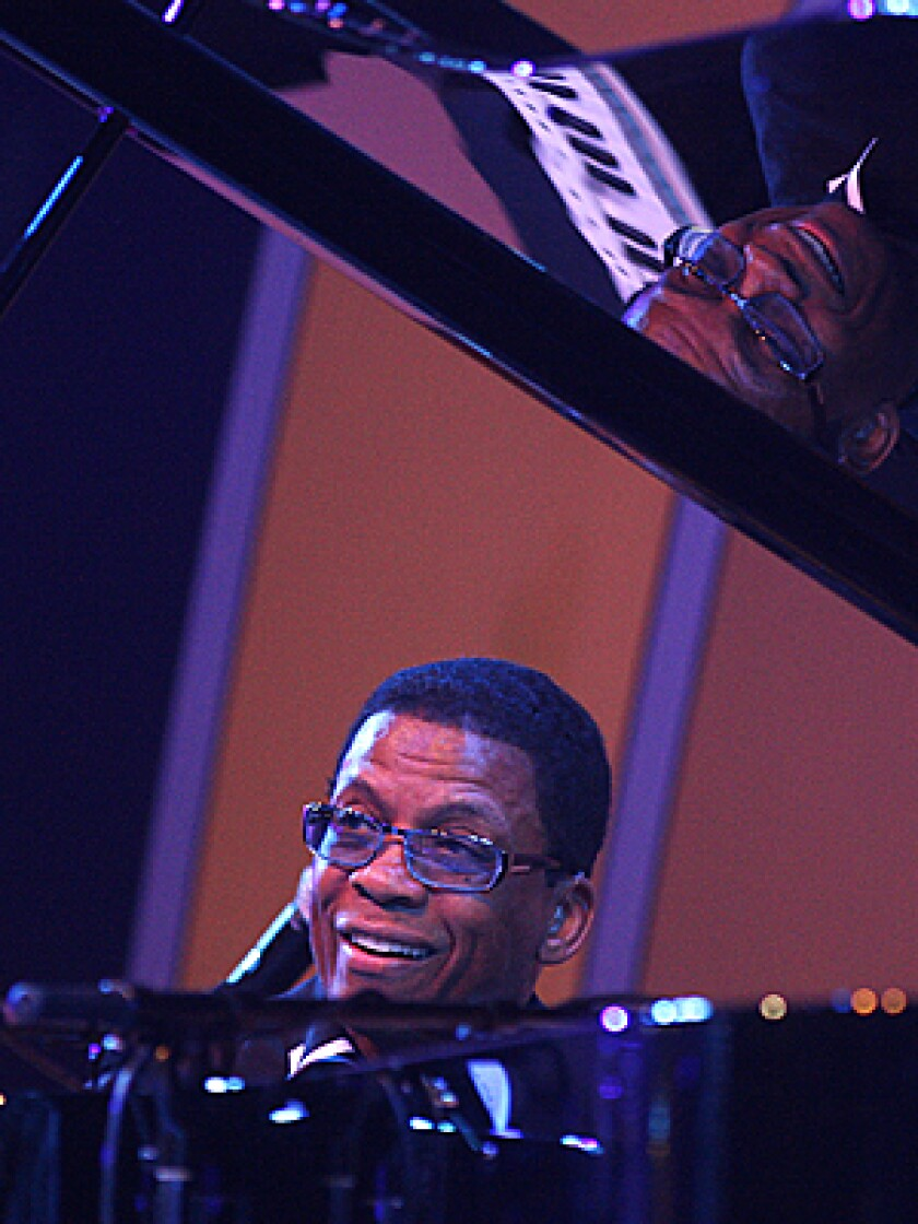 """GRAMMY CHAMP: Herbie Hancock performs from album-of-the-year winner """"River: The Joni Letters"""" on Sunday."""