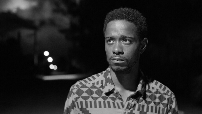 """Lakeith Stanfield in the film """"Live Cargo."""""""