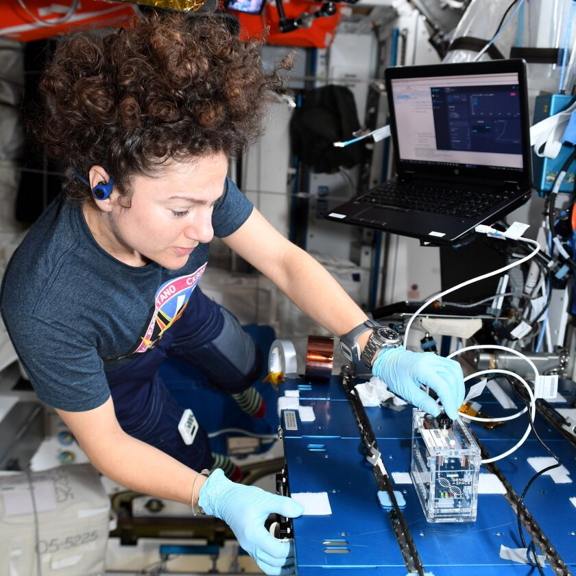 UC San Diego graduate Jessica Meir is currently a crew member on the International Space Station.