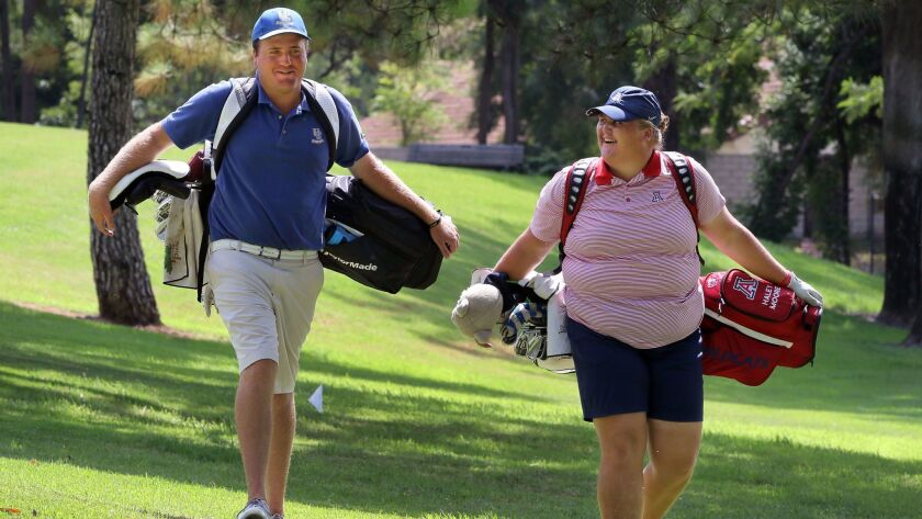 Brother and sister Tyler Moore and Haley Moore often play golf together at their home course, the Country Club of Rancho Bernardo.