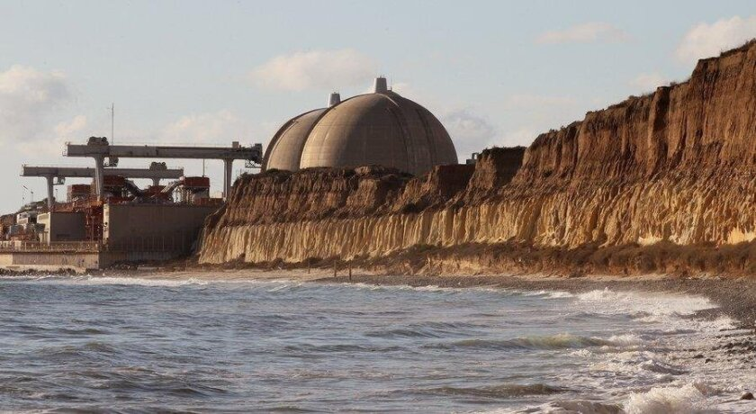 The exterior view of the San Onofre power plant.