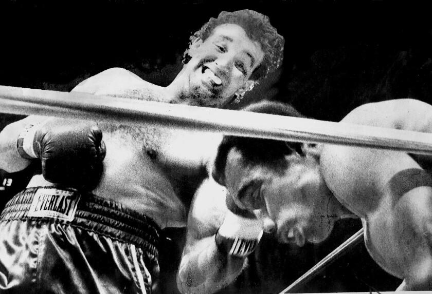 Gerry Cooney al momento de derrotar a Ken Norton en 1981.