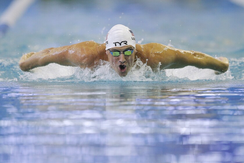 U.S. Olympic swimmer Ryan Lochte competes at the U.S. Open Championships in Atlanta in December.