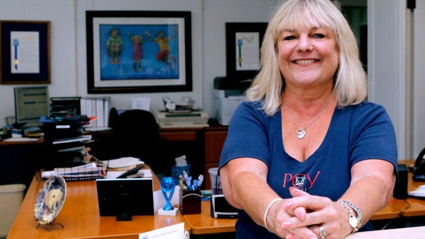 Paradise Canyon Elementary School principal's secretary/office manager Debbie Pierce, at the school'