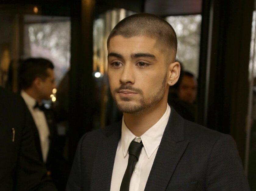 Zayn Malik arrives at the Asian Awards in April in central London.