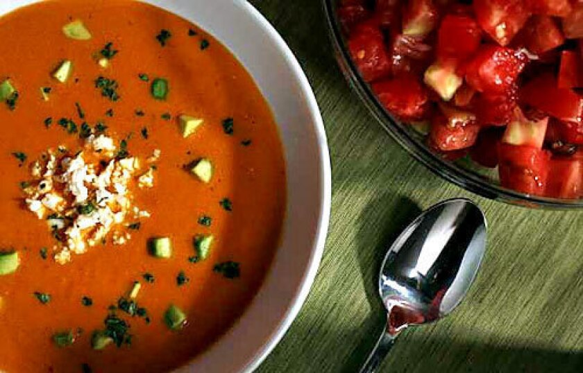 Dinner tonight! Fresh tomato soup