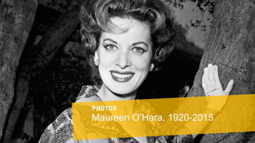 """Legendary motion picture actress Maureen O'Hara, who appeared in such classic films as """"The Quiet Man"""" and """"How Green Was My Valley,"""" has died. O'Hara reportedly died in her sleep Saturday, Oct. 24, 2015, at her home in Boise, Idaho."""