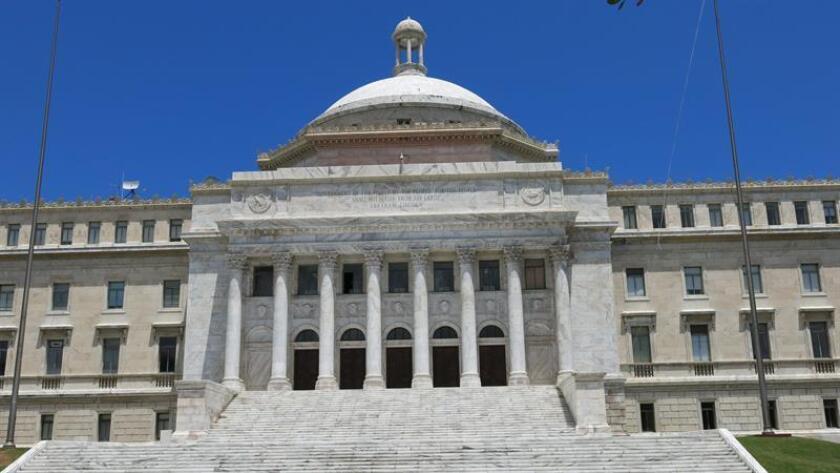 Fotografía que muestra la fachada de la Cámara de Representantes de Puerto Rico. EFE/Archivo