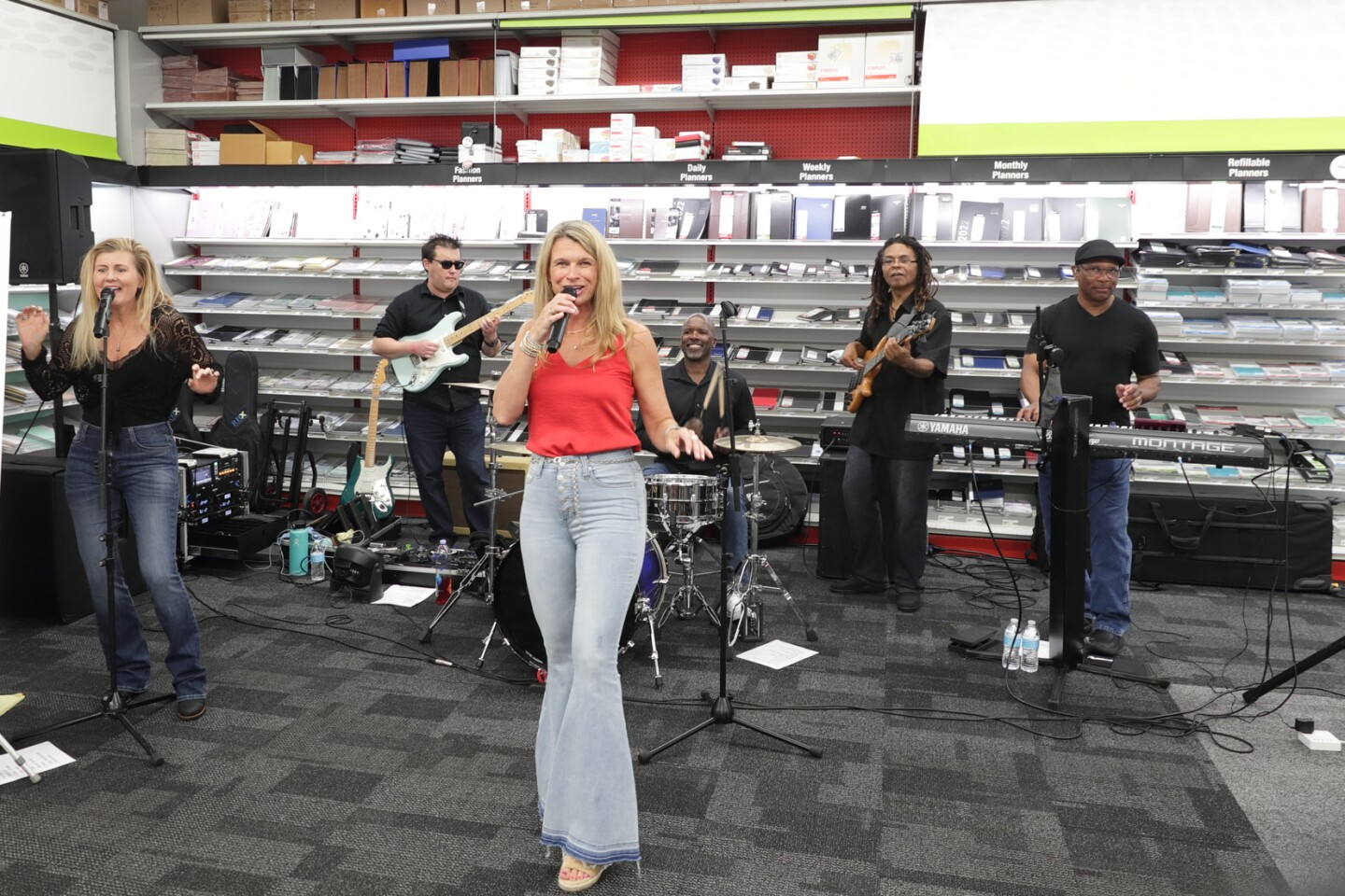 Local band April and the Funk Junkies