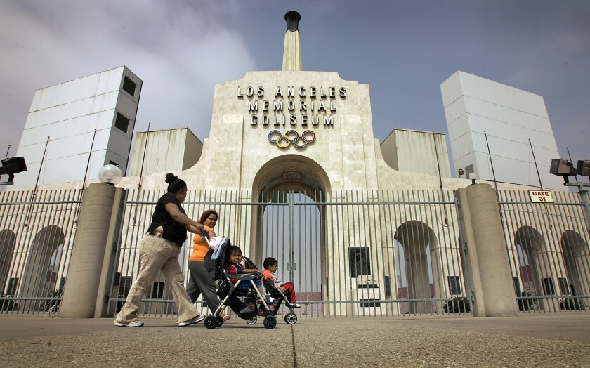 Memorial Coliseum officials will put in a bid with the NFL to become a temporary home to a team relocating to Los Angeles.