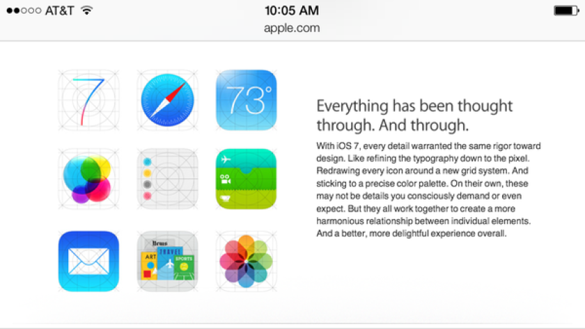 Apple's mobile website is currently displaying alternate icons from those previously unveiled for some of iOS 7 apps.