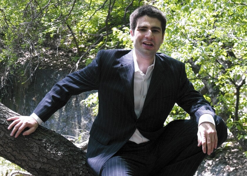 Ned Vizzini, shown in Central Park, drew critical acclaim for his comic and autobiographical writing while still a high school student in New York.