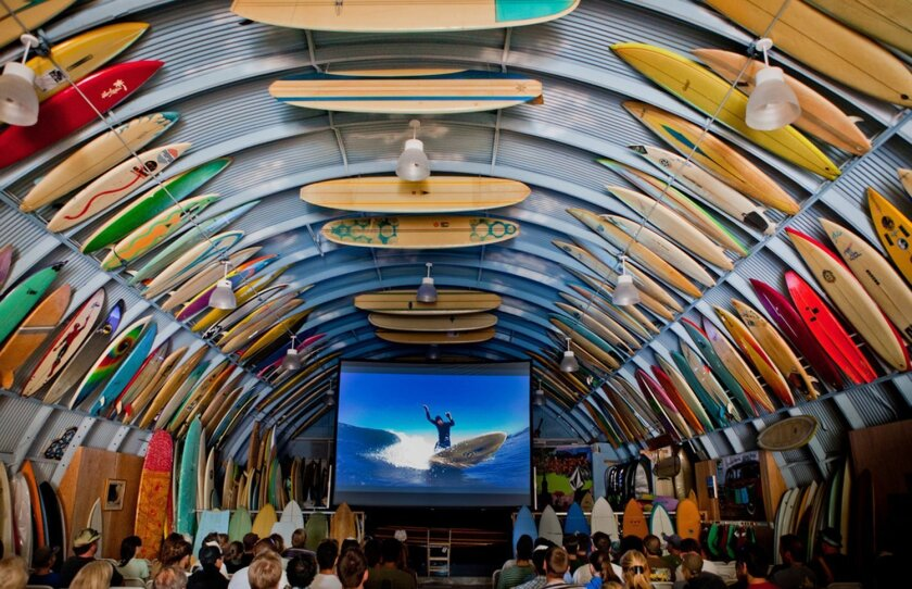 San Diego-based Bird's Surf Shed, world famous for its historical surfing artifacts and surfboards, is also popular for its surf film showings. The Shed will be the venue for the first San Diego Surf Film Festival.