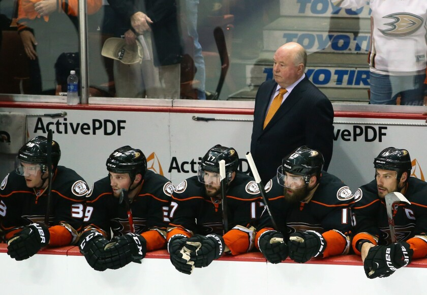 Bruce Boudreau will return next season as the Ducks' coach after his team reached the Western Conference finals.