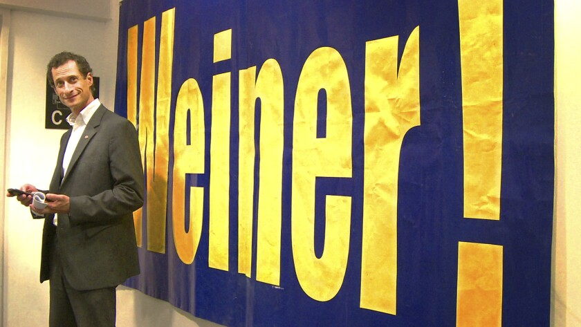 """Anthony Weiner in a scene from the documentary """"Weiner."""""""