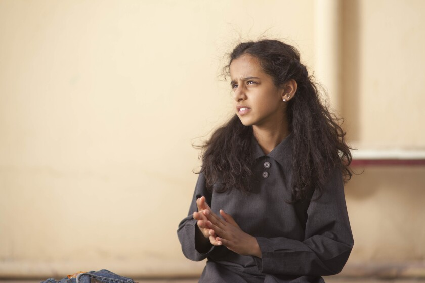 """Waad Mohammed, 12, stars as the plucky title character in """"Wadjda,"""" by Saudi director Haifaa Mansour."""