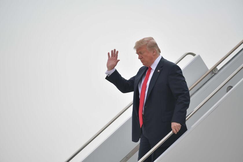 President Trump in California
