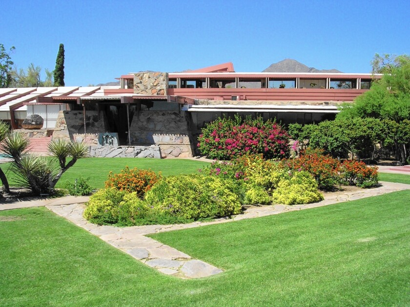 Frank Lloyd Wright's winter home and studio in Scottsdale, Ariz., will mark the 150th anniversary of the architect's birth June 8 with $1.50 admission and birthday cake.