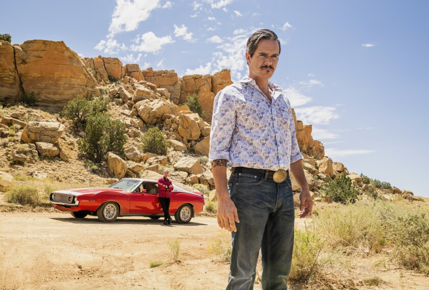 """Tony Dalton, in the foreground, as Lalo Salamanca in """"Better Call Saul."""""""