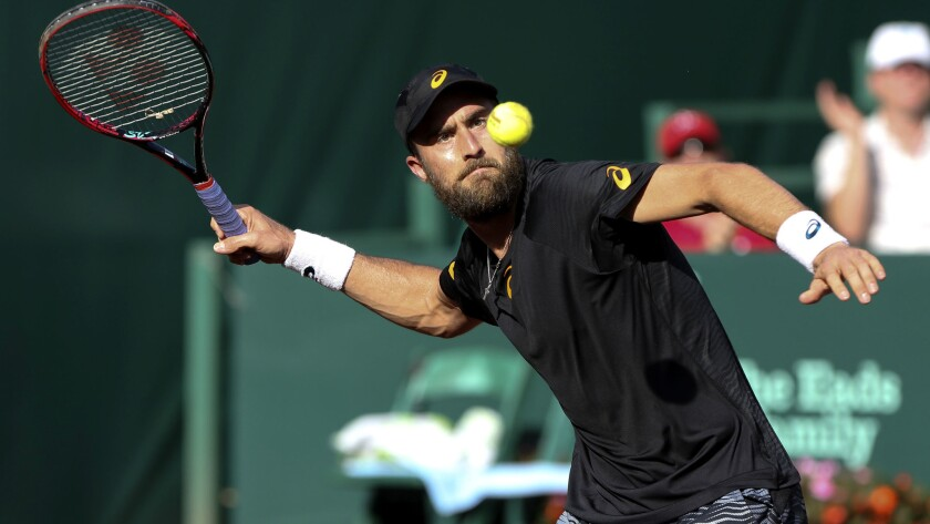 Steve Johnson (above) will face Thomaz Bellucci in the finals of the U.S. Men's Clay Court Championship on Sunday.
