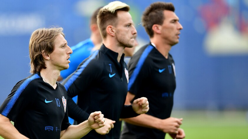 Croatia's Luka Modric, Ivan Rakitic and forward Mario Mandzukic are part of formidable midfield.