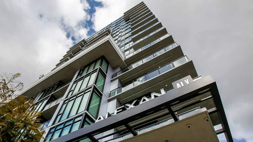 The Alexan ALX luxury apartments at 14th and K Streets in early March.