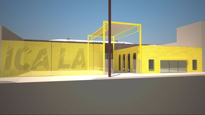 An early concept drawing by wHY Architecture for the new Institute of Contemporary Art Los Angeles in downtown.