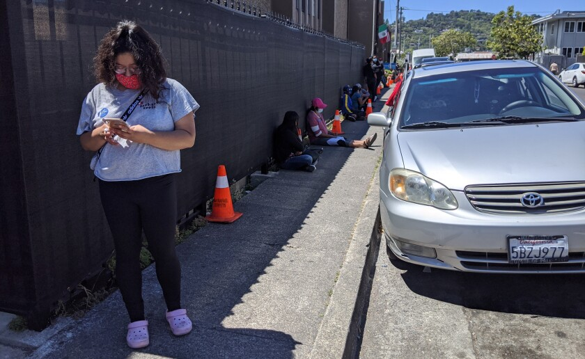 Jennifer Tores, a lifelong Marin County resident, arrived at a COVID-19 testing site at 8 a.m. to get in line.
