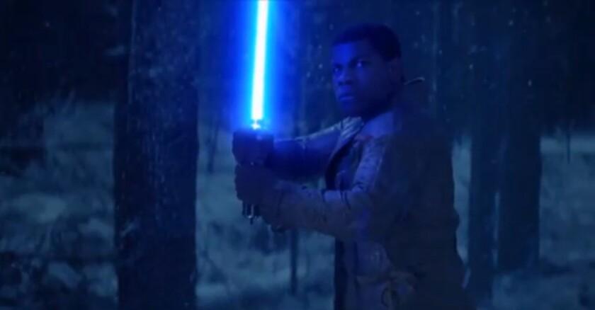 """The new """"Star Wars"""" clip shared on Instagram shows John Boyega."""