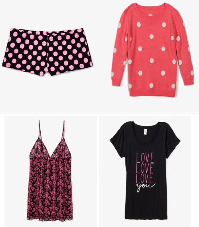 Items from the new Forever 21 Valentine's Day collection.