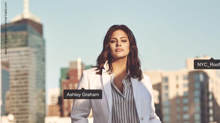 Ashley Graham in the Marina Rinaldi spring campaign.